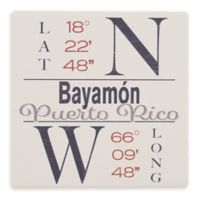 Thirstystone® Dolomite Bayamon, PR Coordinates Square Single Coaster
