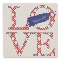 Thirstystone® Dolomite Guaynabo, PR Love Square Single Coaster