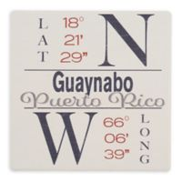Thirstystone® Dolomite Guaynabo, PR Coordinates Square Single Coaster