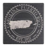 """Thirstystone® """"Carolina, Puerto Rico"""" Stamp Single Square Coaster"""