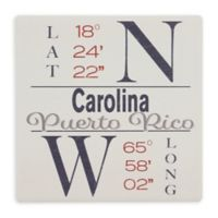 Thirstystone® Dolomite Carolina, PR Coordinates Square Single Coaster