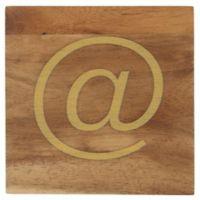 Thirstystone® Acacia Gold At Symbol Single Round Coaster