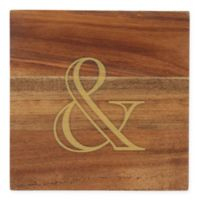 Thirstystone® Acacia Gold Ampersand Single Round Coaster
