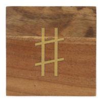 Thirstystone® Acacia Gold Hashtag Single Round Coaster
