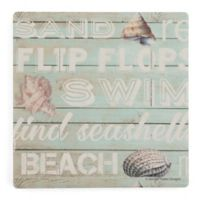 Thirstystone® Dolomite Coastal Breezes Square Single Coaster