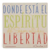 Thirstystone® Dolomite El Espiritu Square Single Coaster
