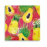 Thirstystone® Dolomite Paradise Found Fruit Square Single Coaster