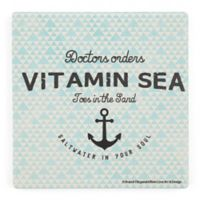 Thirstystone® Dolomite Doctor's Orders Vitamin Sea Single Square Coaster