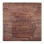 Thirstystone® Dolomite Love Georgia Woodburn Single Square Coaster