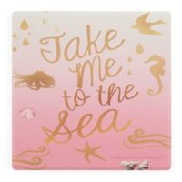 Thirstystone® Dolomite Take Me to the Sea Pink II Single Square Coaster