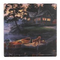 Thirstystone® Dolomite Silent Shores Single Square Coaster