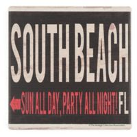 Thirstystone® Dolomite South Beach Sign Single Coaster
