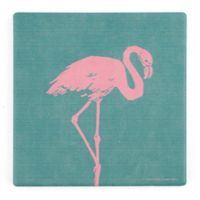 Thirstystone® Flamboyant Flamingo Single Square Coaster