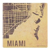 Thirstystone® Dolomite Miami Street Map Square Single Coaster