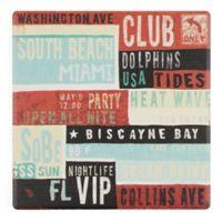 Thirstystone® Dolomite Miami Square Single Coaster