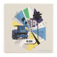 Thirstystone® Dolomite Miami Retro Square Single Coaster