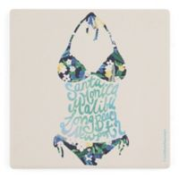 Thirstystone® Dolomite Bikini California Single Square Coaster
