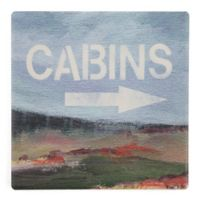 Thirstystone® Dolomite Cabins Single Square Coaster