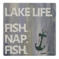 Thirstystone® Dolomite Lake Life Single Square Coaster