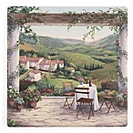 Thirstystone® Dolomite Afternoon in the Vineyard Square Single Coaster