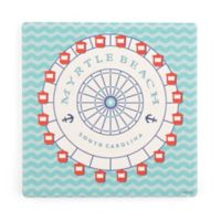Thirstystone® Dolomite Myrtle Beach Square Single Coaster