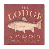 Thirstystone® Trout Sign Single Dolomite Coaster