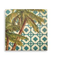 Thirstystone® Dolomite Beach Palm Pattern I Single Square Coaster