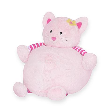 Pink cat bean bag bellie bed bath beyond for Hand shaped bean bags