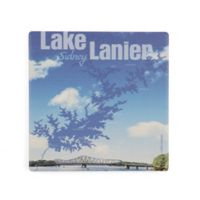Thirstystone® Dolomite Lake Lanier Map Single Square Coaster