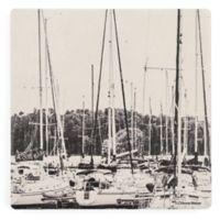 Thirstystone® Dolomite Sailboat Masts Square Single Coaster