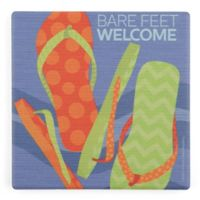 Thirstystone® Dolomite Bare Feet Welcome Single Square Coaster
