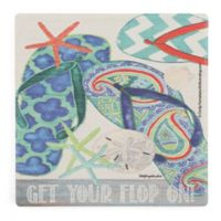 Thirstystone® Dolomite Get Your Flop On Single Square Coaster