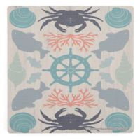 Thirstystone® Dolomite Wooden Coastal Otomi Single Square Coaster
