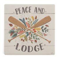 Thirstystone® Peace and Lodge Single Dolomite Coaster