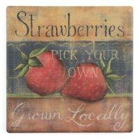 Thirstystone® Dolomite Strawberries Single Square Coaster