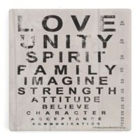 Thirstystone® Love Eye Chart Single Square Coaster