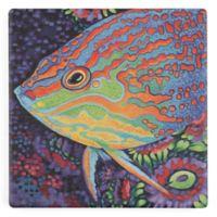Thirstystone® Sea Sweetheart Turtle Square Single Coaster