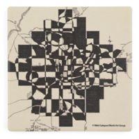 Thirstystone® Dolomite Modern Map of Atlanta Square Single Coaster