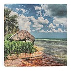 Thirstystone® Thatched Roof Single Square Coaster