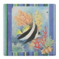 Thirstystone® Tropical Fish Square Single Coaster