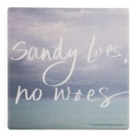 Thirstystone® Dolomite Sandy Toes, No Woes Single Square Coaster