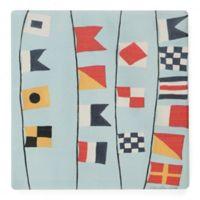 Thirstystone® Dolomite Nautical Flags Single Coaster