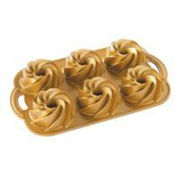 Nordic Ware® Heritage Premier Gold 4-Cup Bundt Pan in Gold