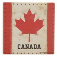 Thirstystone® Dolomite Vintage Canada Flag Single Square Coaster