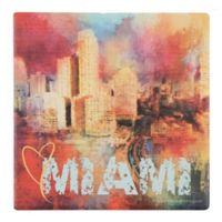 Thirstystone® Dolomite Send Love to Miami Square Single Coaster