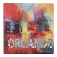 Thirstystone® Dolomite Sending Love to Orlando Square Single Coaster