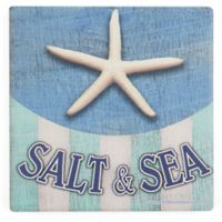 Thirstystone® Dolomite Salt & Sea Starfish Square Single Coaster