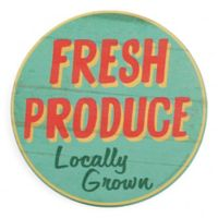 Thirstystone® Dolomite Fresh Produce Single Round Coaster