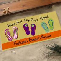 Wipe Your Flip Flops Here 24-Inch x 48-Inch Door Mat