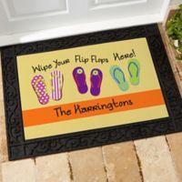 Wipe Your Flip Flops Here 18-Inch x 27-Inch Door Mat